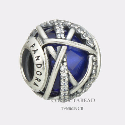 Authentic Pandora Silver Royal Blue Galaxy Bead 796361NCB WINTER 2017