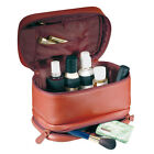 Red Leather Makeup Travel Bags