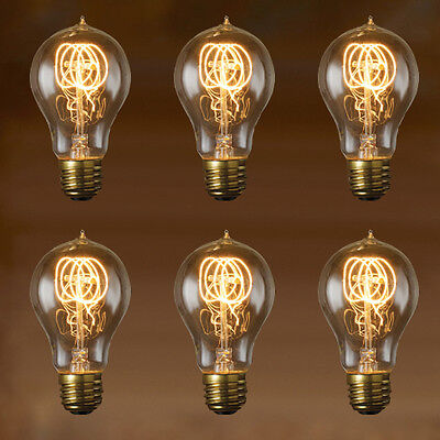 EDISON BULB - NOSTALGIC LOOP FILAMENT - 6-PACK - Vintage Style Repro - 40W