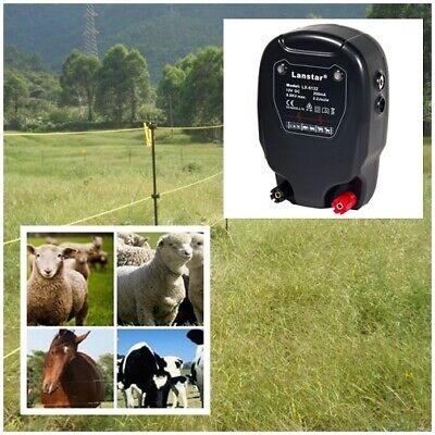 20km Electric Fence Solar Power Energy Controller Animal Farm Livestock