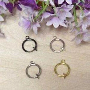 2Pieces-Clip-On-Hoops-Earrings-Finding-Connectors