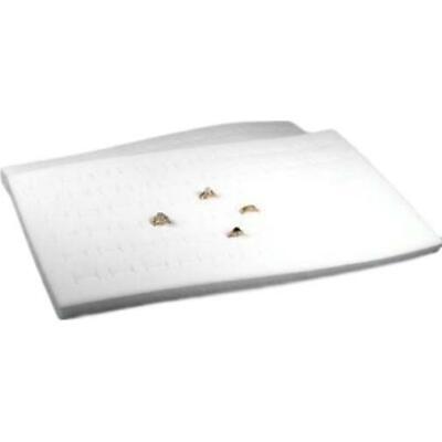 2 72 Slot White Velvet Ring Display Tray Inserts