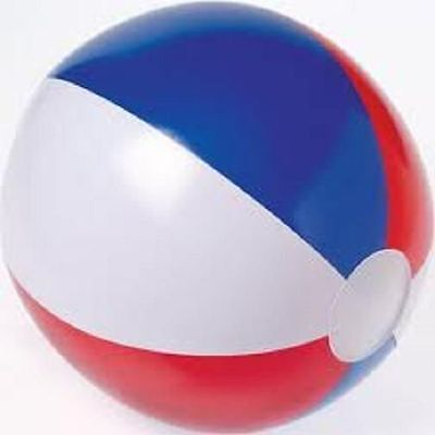 "(96) RED WHITE AND BLUE BEACH BALLS 12"" Pool Party Beachball NEW #AA3 Free Ship"