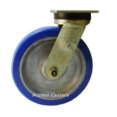 8as3p-7 8 X 2 Bassick Swivel Plate Caster Polyurethane On Aluminum Wheel