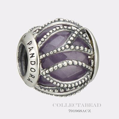 Authentic Pandora Sterling Silver Interwining Radiance Purple CZ Bead 791968ACZ