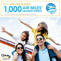 Get 1,000 Air Miles when you buy your home with me!