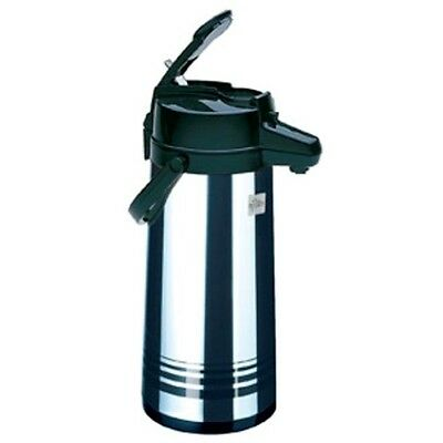 Airpot 84 Oz.2.5 Lt. Decaf Coffee - Stainless Steel Lined Update Lever Pot