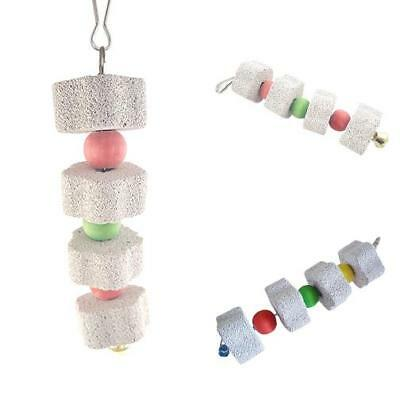 Pet Hamster Rabbit Parrot Bird Teeth Grinding Stone String Chew Toy Gifts Glitzy