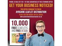 Leaflet Distributors Required Throughout Ayrshire