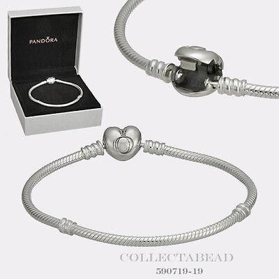 Authentic Pandora Silver Bracelet Pandora Heart Clasp 7.9