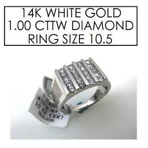 NEW* STAMPED 14K DIAMOND RING 10.5 JEWELLERY - JEWELRY - 14K WHITE GOLD - 1 CTTW 101730768