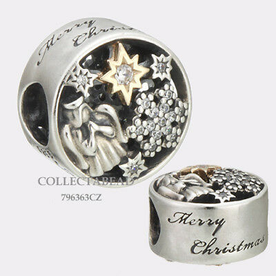 Authentic Pandora Silver & 14K Celestial Wonder CZ Bead 796363CZ *WINTER 2017