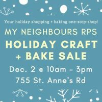 Join us for the My Neighbours RPS Holiday Craft + Bake Sale!
