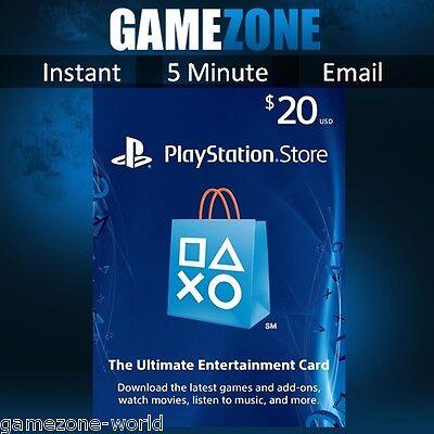 PlayStation Network $20 USD Code - 20 Dollar PSN US Store Card - PS4/PS3/PSP USA