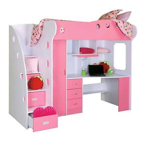 Pink Jysk loft bed