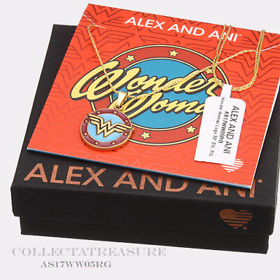 Authentic Alex And Ani Wonder Woman Logo 32  Rafaelian Gold Necklace