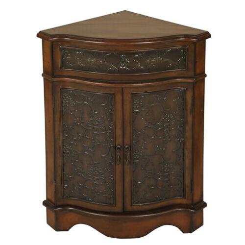 2335 - Walnut Corner Cabinet