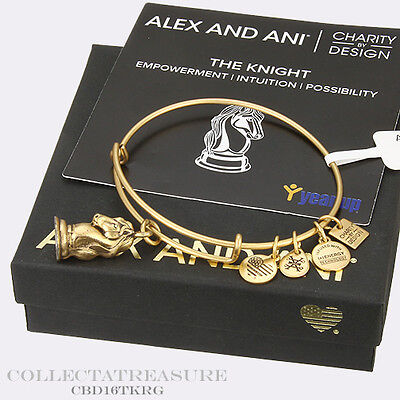 Authentic Alex And Ani The Knight Russian Gold Charm Bangle Cbd