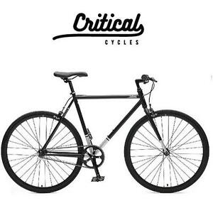 NEW* CRITICAL CYCLES MEN'S BIKE - 112423559 - 57CM HARPER SINGLE SPEED/FIXED GEAR COMMUTER BIKE MATTE BLACK LARGE