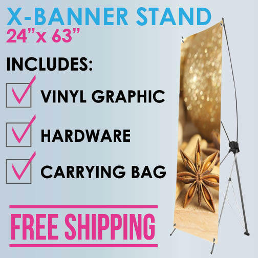 "X-Banner Stand 24""x63"""