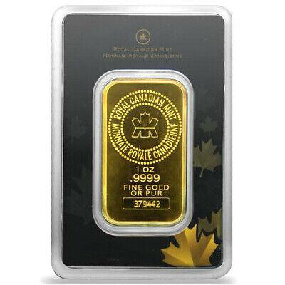 1 OZ (RCM) ROYAL CANADIAN MINT GOLD BAR (NEW W/ ASSAY)