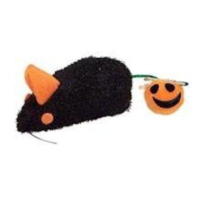 Votoys Xpet Katze Katzenminze Halloween Maus mit Puff Kürbis Schwanz Spielzeug