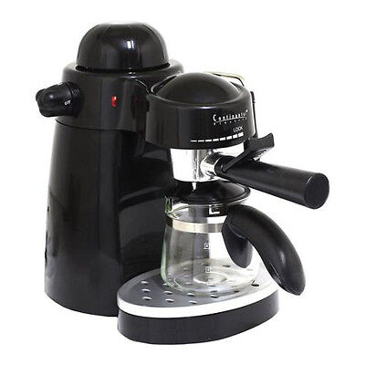 Continental 4-Cup Espresso Maker with Variable Steam Control & Frother NEW