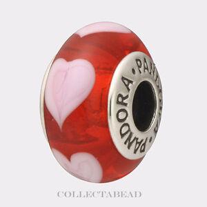 Authentic Pandora Murano Beads Red Ebay