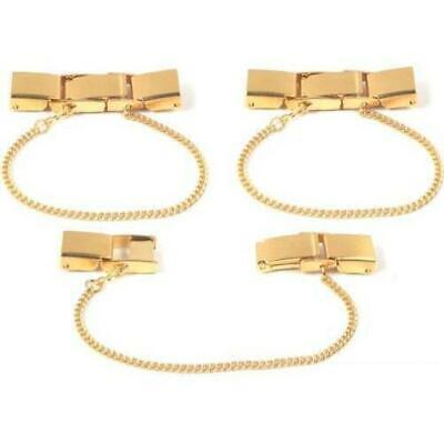 3 Gold Plated Ladies Watch Clasp & Safety Chain 6mm Watchmaker Repair Parts for sale  Shipping to India