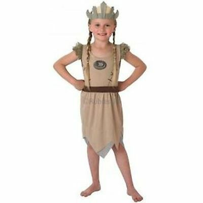 Childs Viking Girl School History Dress Up Fancy Dress Costume Outfit Age 3 - 8 ()