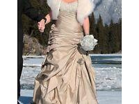 Beautiful wedding dress including shawl