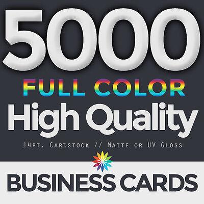 5000 Full Color  Business Cards Both Sides FREE DESIGN