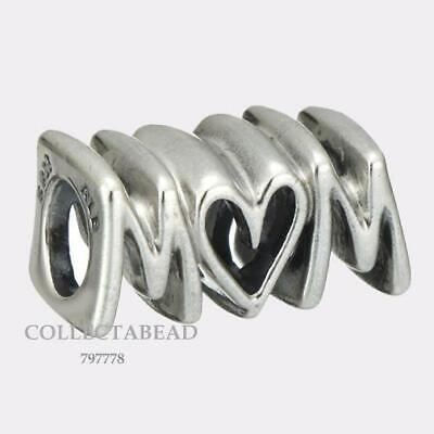 AUTHENTIC Pandora Sterling Silver Mom Script Bead 797778 *Brand New with Tag