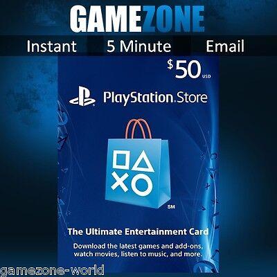 PlayStation Network $50 USD Code - 50 Dollar PSN US Store Card - PS4/PS3/PSP USA