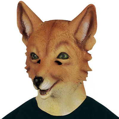 Adult Fox Mask (ADULT LATEX FOXY FOX MASK ZOO ANIMAL COSTUME RUBBER MASKS )