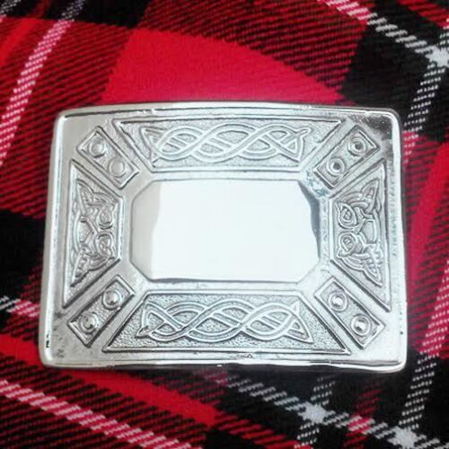 Large Celtic Kilt Belt Buckle