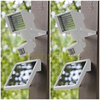 2-Pack White 60 SMD LED Solar Powered ...