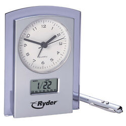 Dual Analog Digital Clock and Calendar.