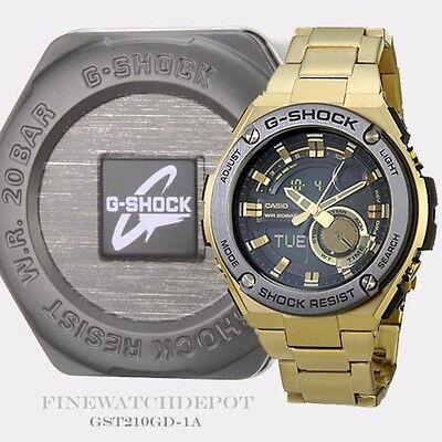 Authentic Casio G-Shock Men's G-Steel 2nd Gen 3D Ana-Digital Watch GST210GD-1A