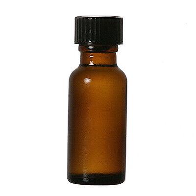 12 Pcs 12 Oz 15ml Amber Boston Round Glass Vials Wcaps