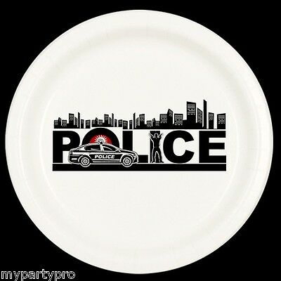 Police City Dinner Plate Birthday Party Supplies law enforcement - Law Enforcement Party Supplies