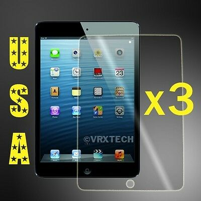 3x HD Clear Screen Protector For Apple iPad Mini 1 2 3 Cover Guard Shield Film
