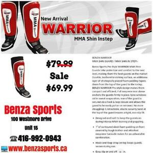 BENZA WARRIOR MMA SHIN GUARD WITH INSTEP, SHIN PROTECTOR ONLY @ BENZA SPORTS