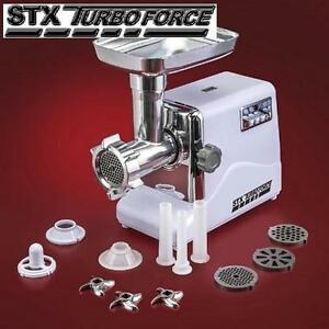 USED STX ELECTRIC MEAT GRINDER ELECTRIC MEAT GRINDER 3 SPEEDS 3 CUTTING BLADES 3 GRINDING PLATES 107711772