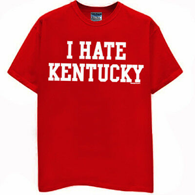 Louisville Cardinals T-shirt I HATE KENTUCKY football basketball new 2XL