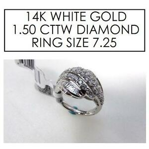 NEW* STAMPED 14K DIAMOND RING 7.25 JEWELLERY - JEWELRY - 14K WHITE GOLD - 1.50 CTTW 101740951