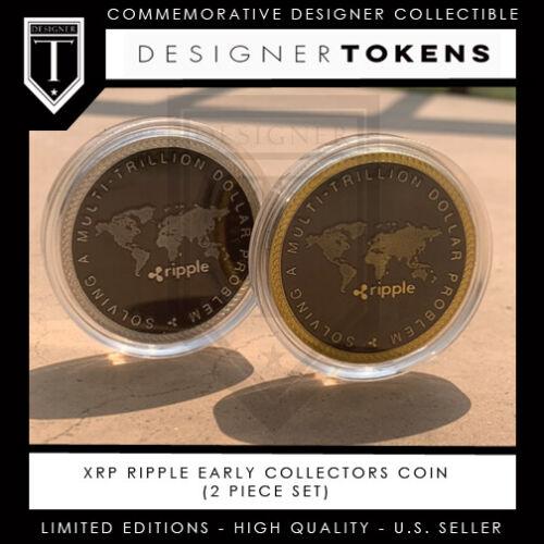 (2 Piece) XRP Ripple Commemorative Collectible Designer Coin
