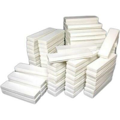 100 White Cotton Jewelry Boxes Watch Bracelet Display