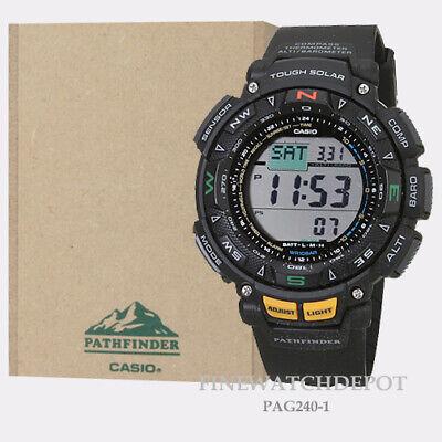 Authentic Casio Pro Trek Mens Tough Solar Power Triple Sensor Watch (Solar Power Triple Sensor)