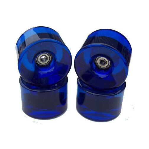76mm LONGBOARD Wheels BLUE + BEARINGS